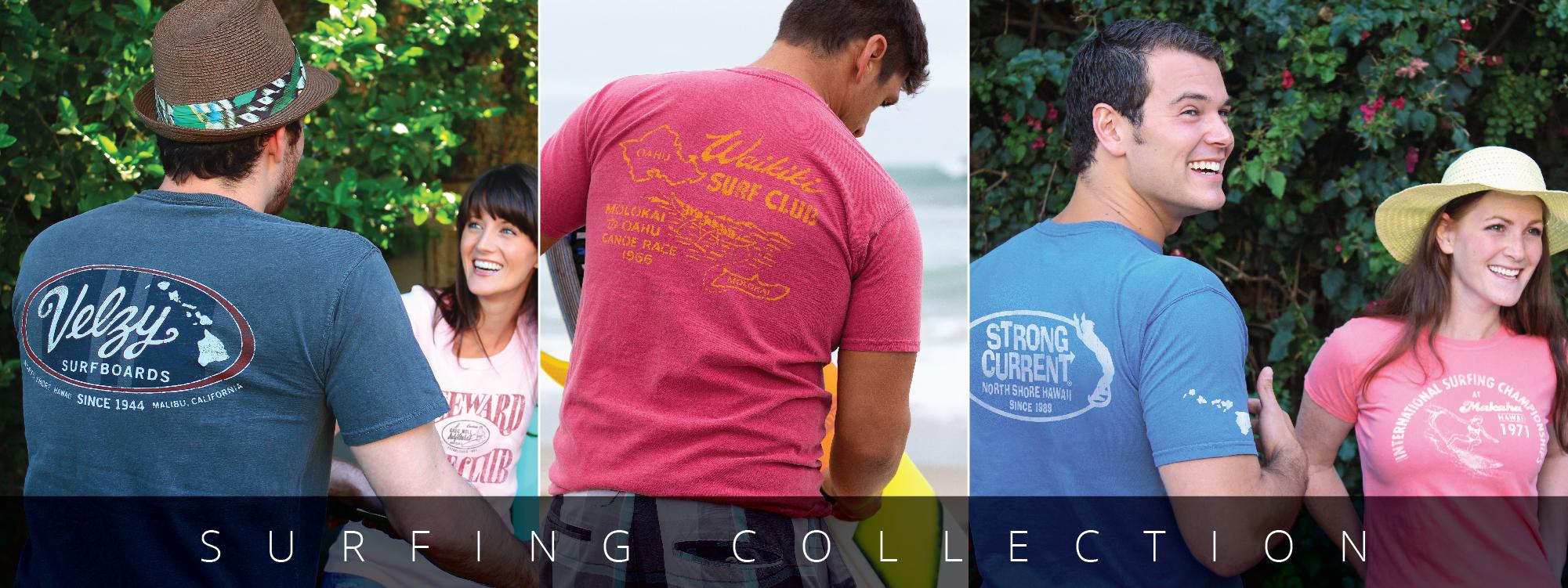 vintage surfing t-shirts