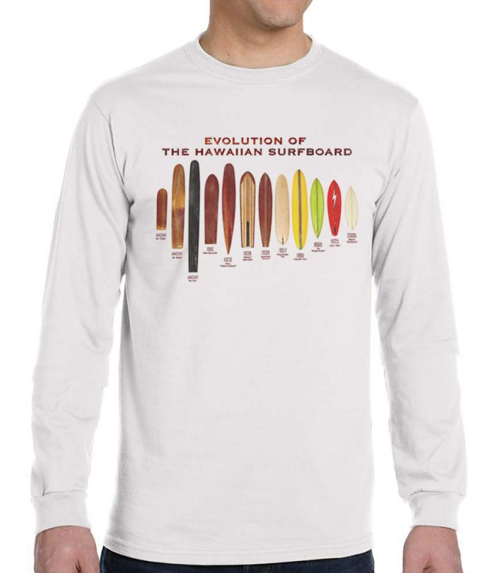 Men's Evolution of the Surfboard Long Sleeve T-Shirt