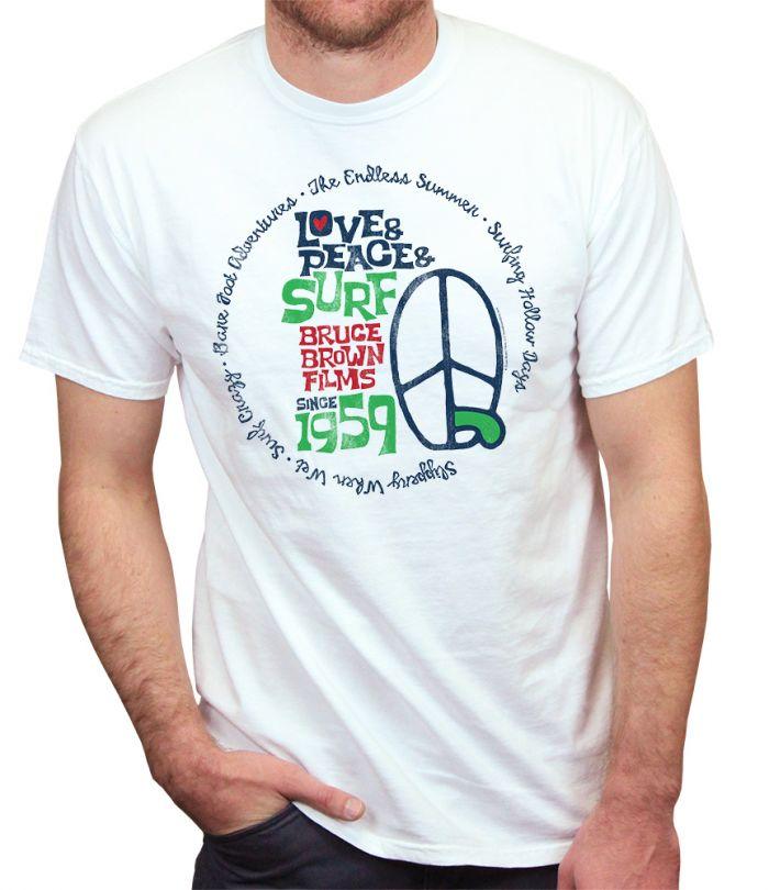 Love Peace Surf 59 T-Shirt