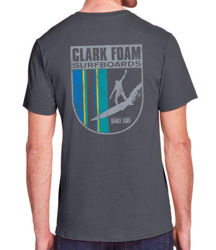Clark Foam Surfboards Drop In Crest T-Shirt