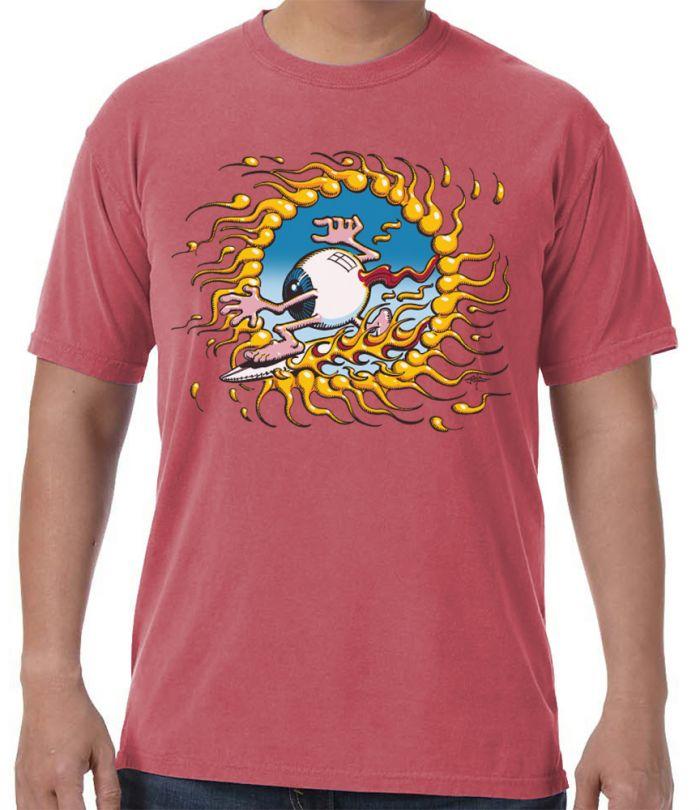 Rick Griffin Surfing Eyeball Men's T-Shirt