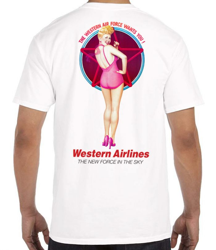Western Airline Pin-Up T-Shirt