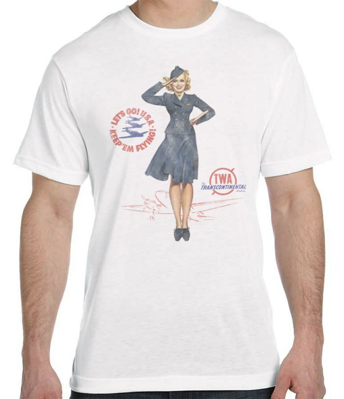 TWA Retro Pin-Up T-shirt