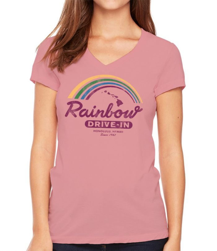 Rainbow Drive-In Retro Islands V-Neck T-Shirt