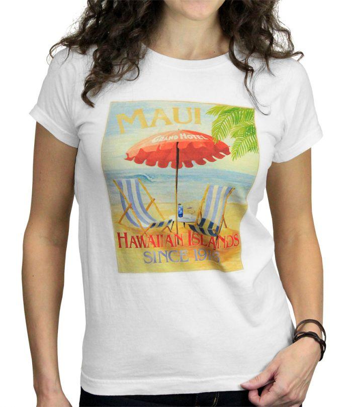 Maui Grand Hotel Women's White T-Shirt