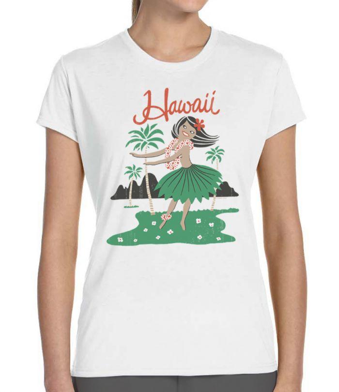 Retro Hula Girl Women's T-Shirt
