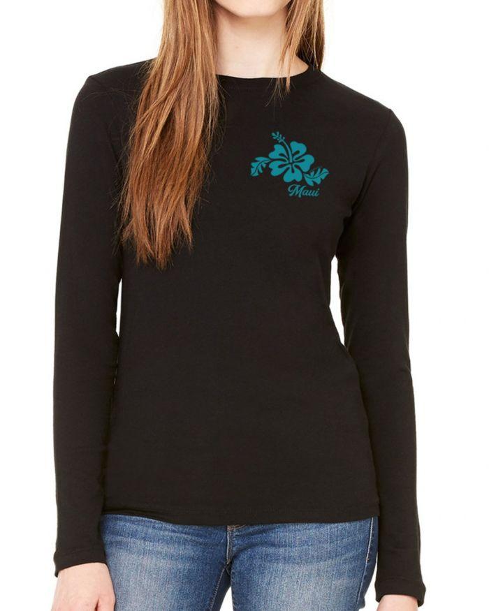 Maui Hibiscus Long Sleeve T-Shirt