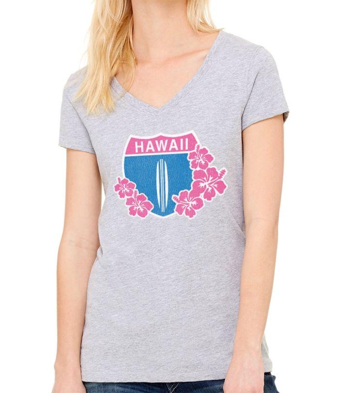 Hawaii Highway 1 Women's V Neck