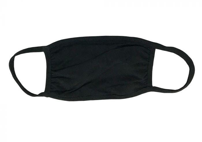 100% Cotton Black Face Mask
