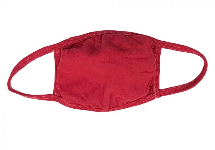 100% Cotton Red Face Mask