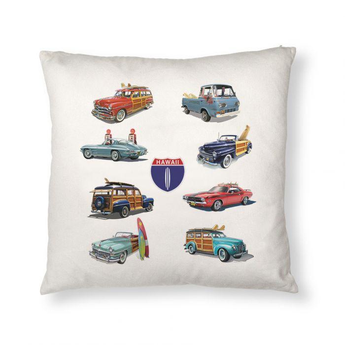 Hi Hwy 1 Cars Throw Pillow Cover