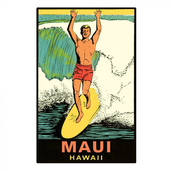 Maui Surfer Sticker