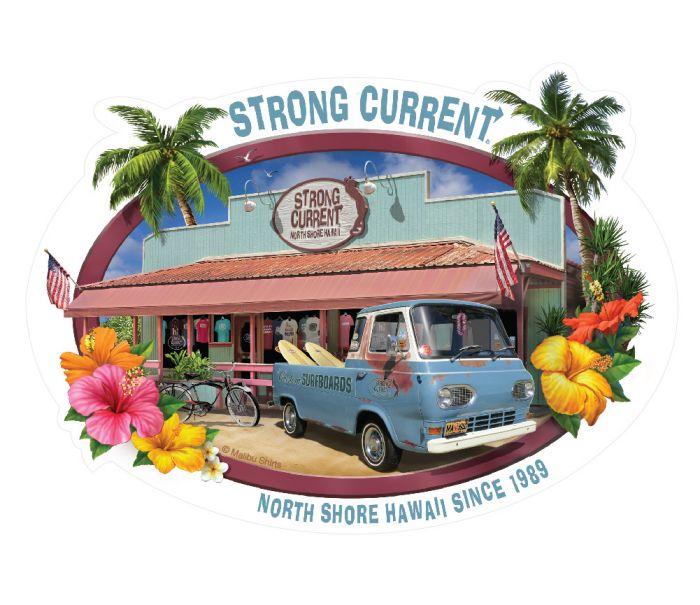 Strong Current Van Sticker