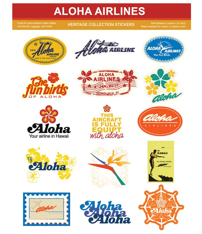 Aloha Airlines Heritage Stickers