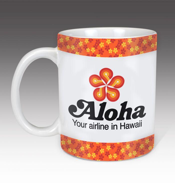 Aloha Airlines Vintage Coffee Mug