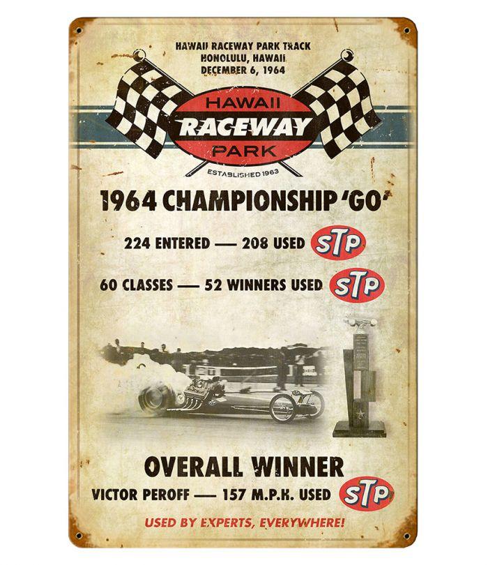 Hawaii Raceway Park Vintage Metal Sign
