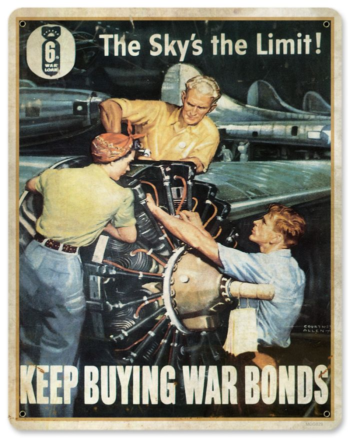 War Bonds Metal Sign