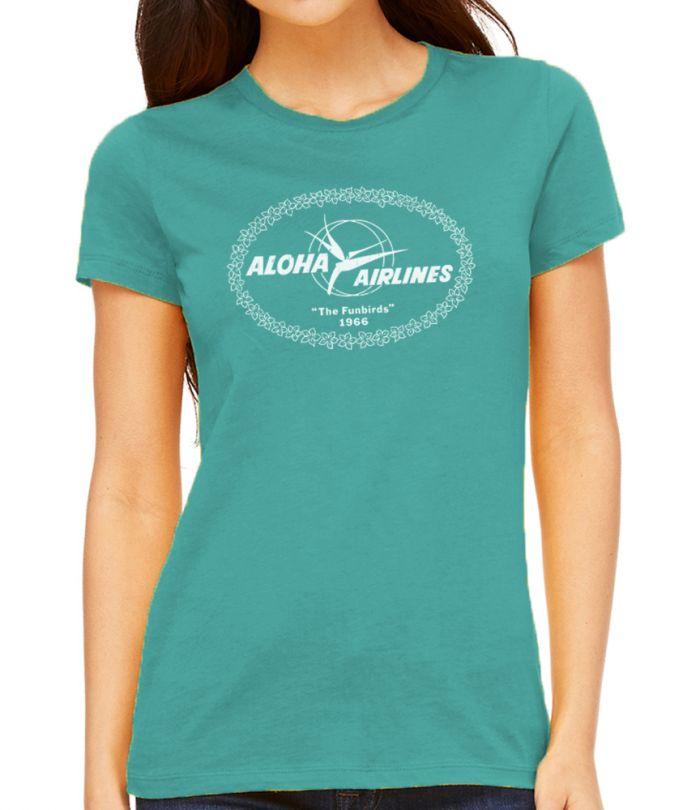Aloha Airlines Funbirds 1966 Women's T-Shirt