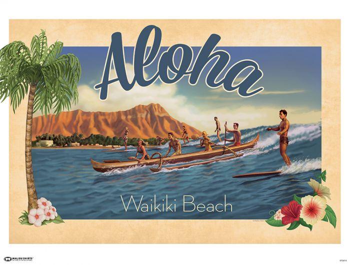 Aloha Waikiki Poster