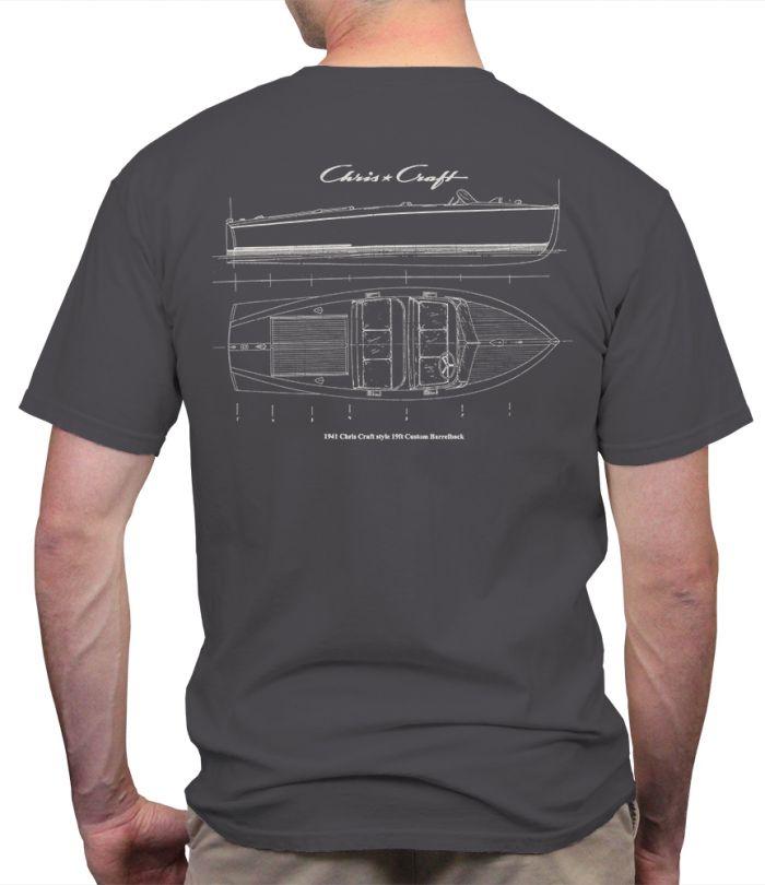 Chris Craft Blueprint Men's T-Shirt