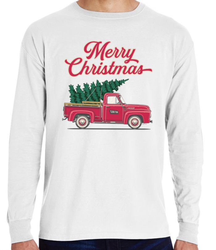 Christmas Tree Truck Long Sleeve T-Shirt