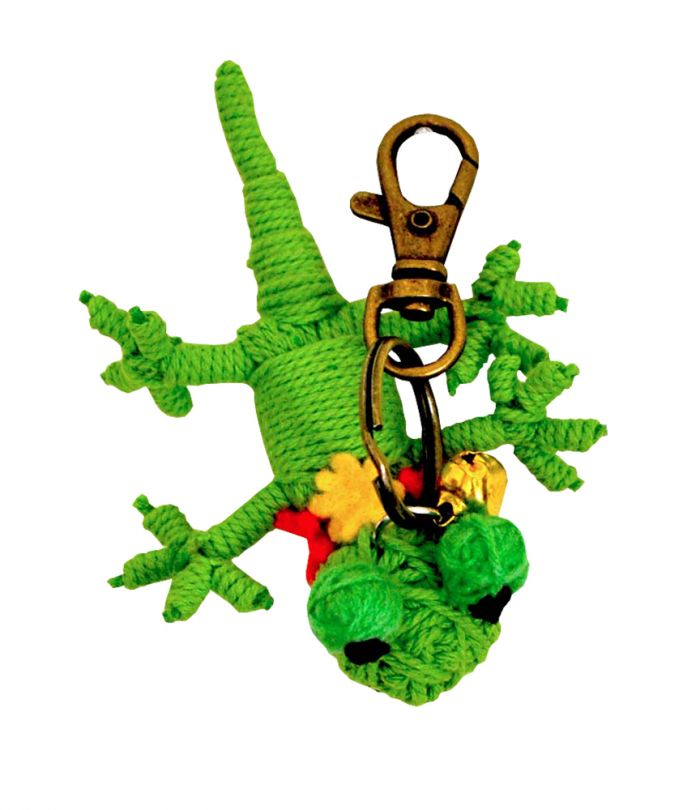 Gecko String Keychain