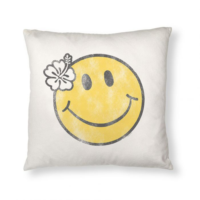 Happy in Hawaii Throw Pillow Cover