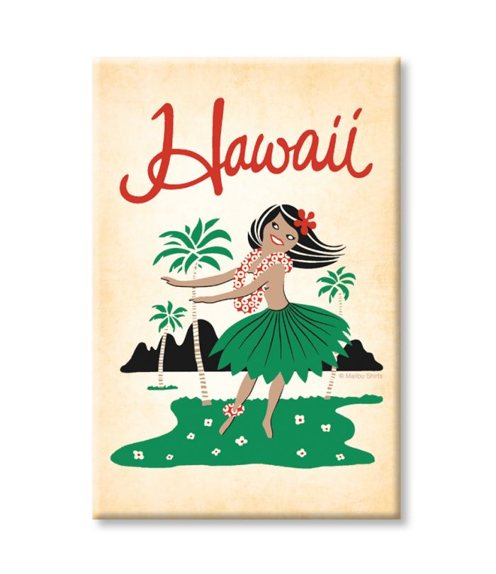 Hawaii Hula Girl Magnet