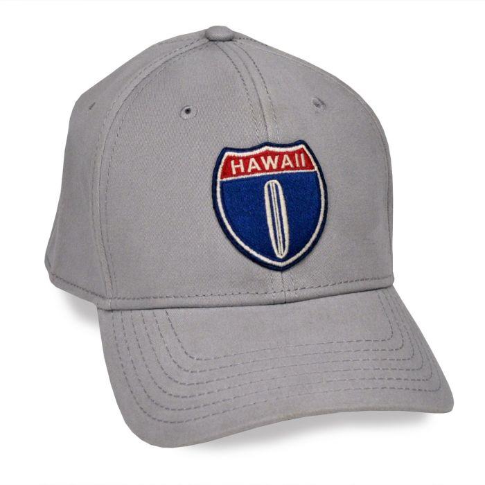 Hawaii Hwy 1 Grey Adjustable Cap