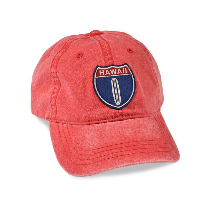 Hawaii Hwy 1 Red Adjustable Cap