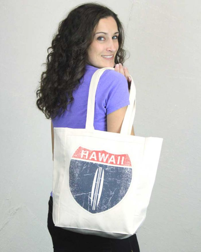 Hawaii Hwy 1 Tote Bag
