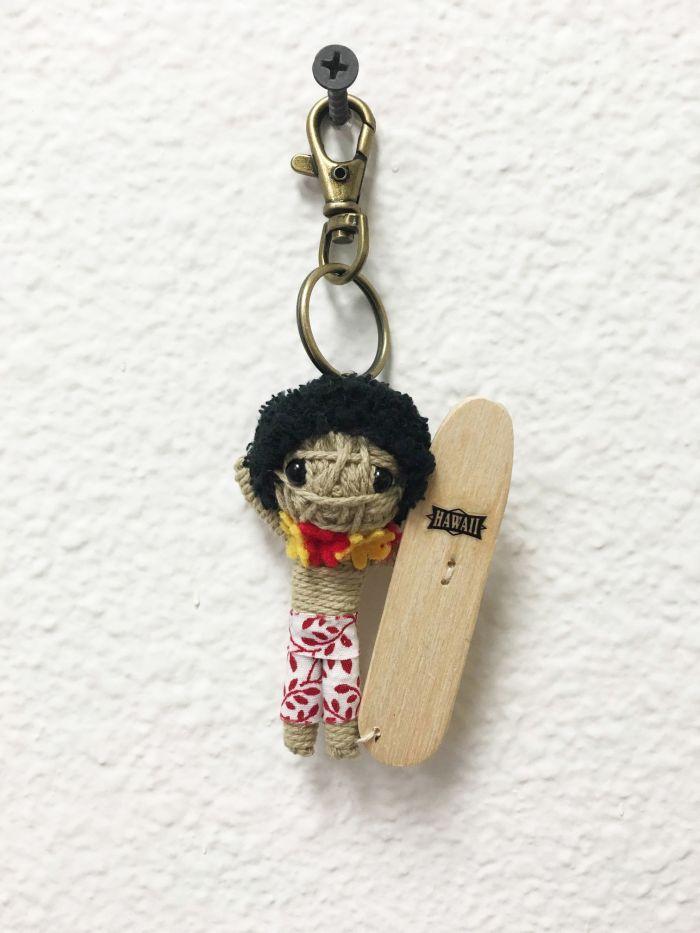 Hawaii Surfer String Doll Keychain
