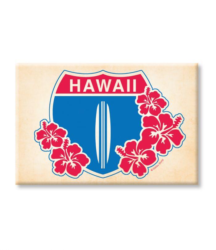 Hi Hwy 1 Floral Magnet