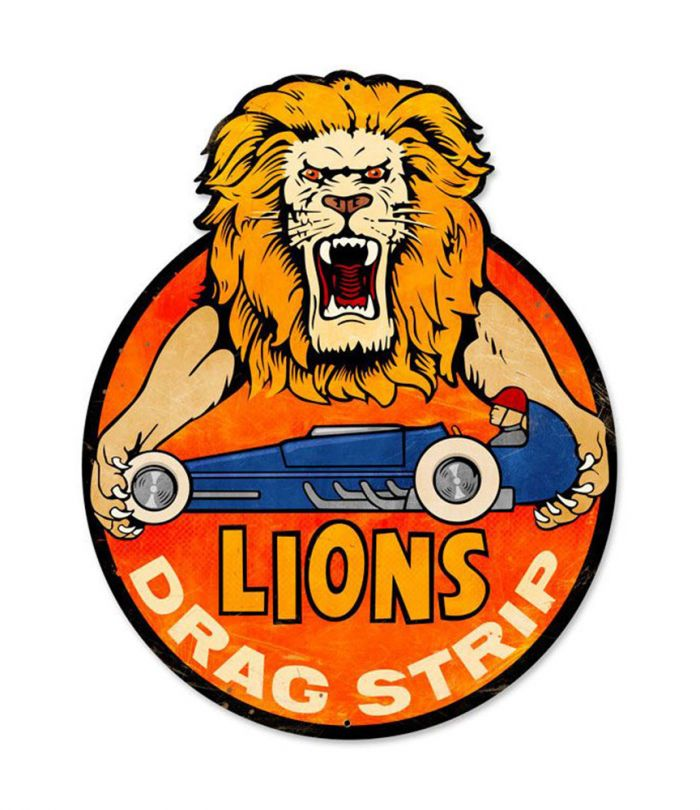 Lions Drag Strip 223 Alameda Lg Metal Sign
