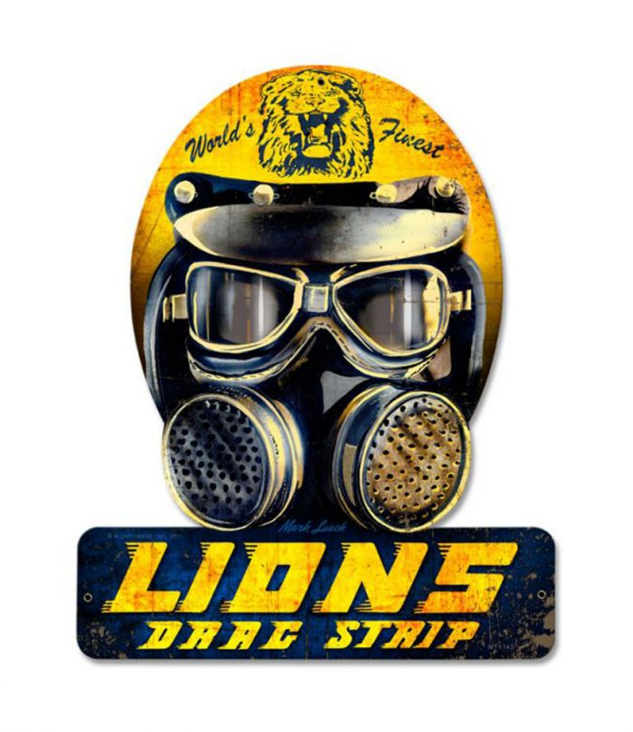 Lions Drag Strip Hemet Metal Sign