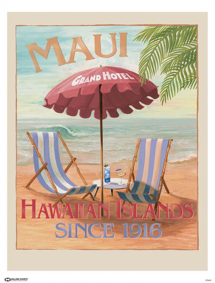Maui Grand Hotel Poster
