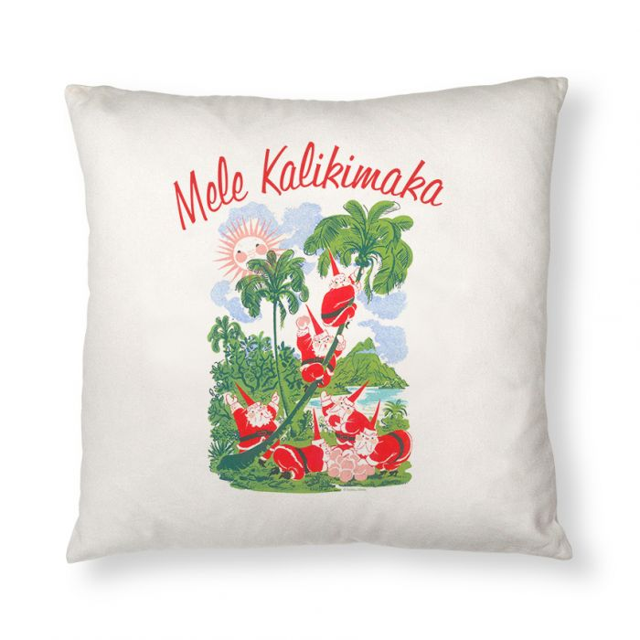 Mele Kalikimaka Throw Pillow Case