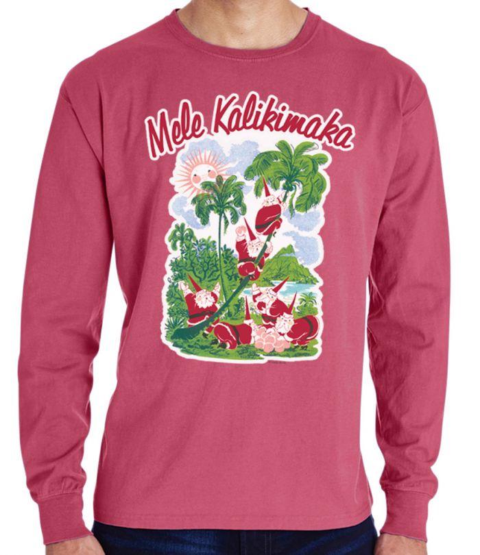 Mele Kalikimaka Vintage Red T-Shirt