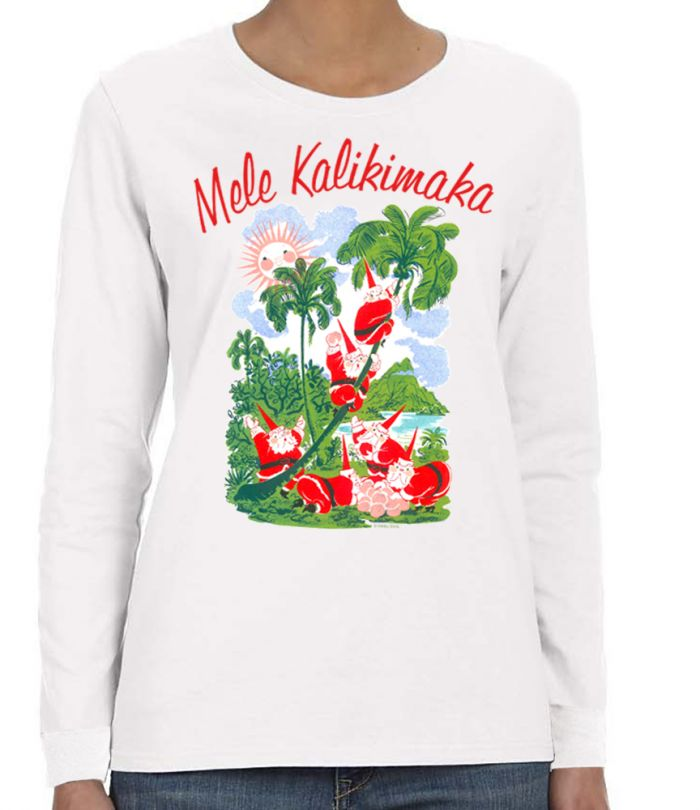 Mele Kalikimaka Women's Long Sleeve