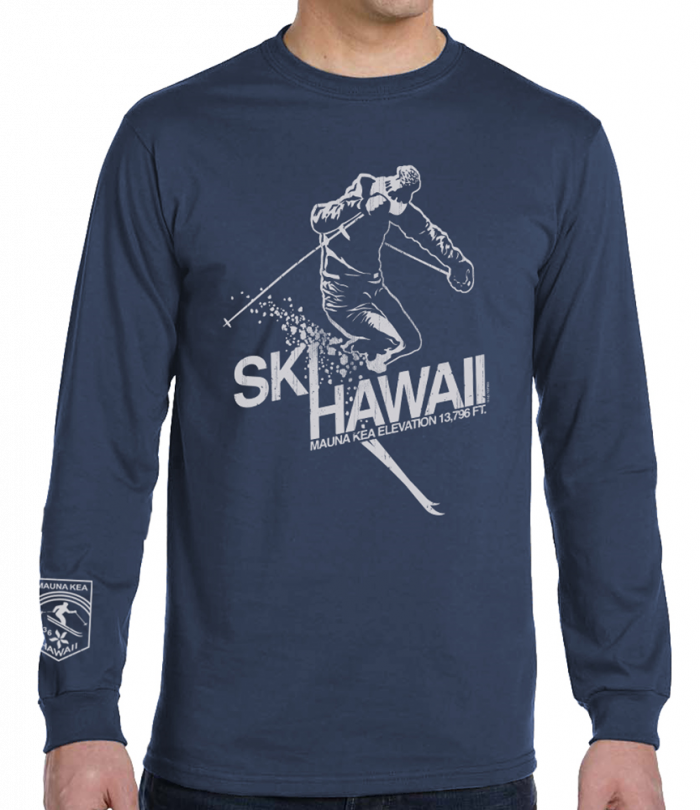 Men's Ski Hawaii Long Sleeve T-Shirt