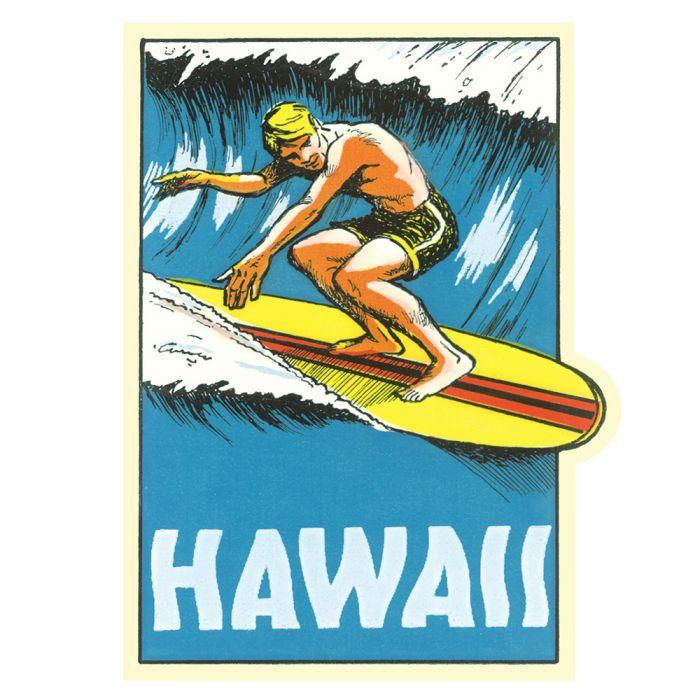 North Shore Surfer Sticker