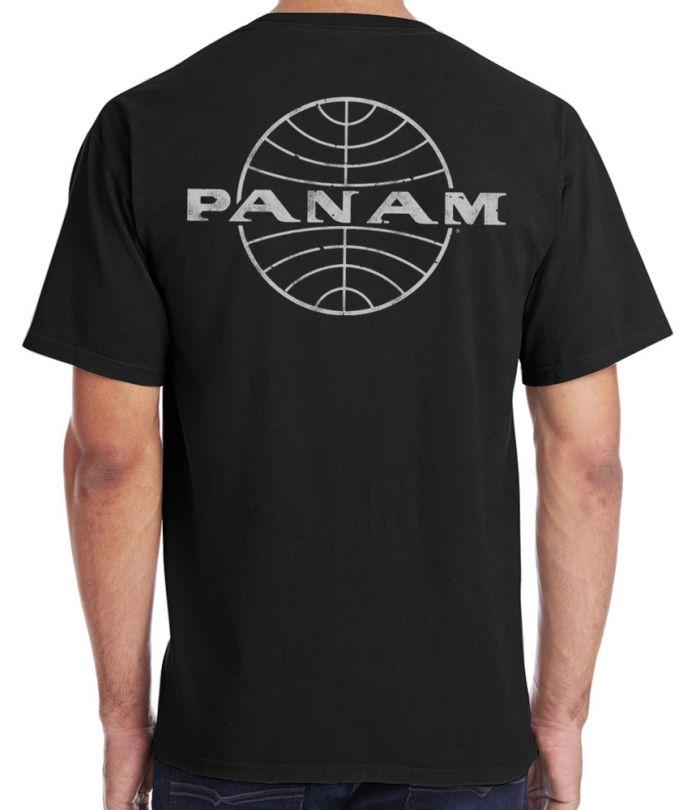 Pan Am Globe Black T-Shirt