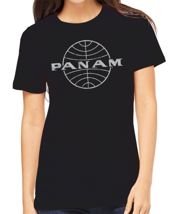 Pan Am Globe Black Unisex T-Shirt