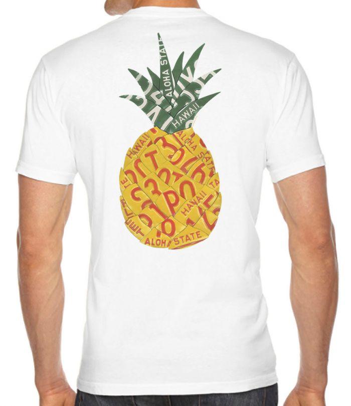 Pineapple License Plate  Men's T-Shirt