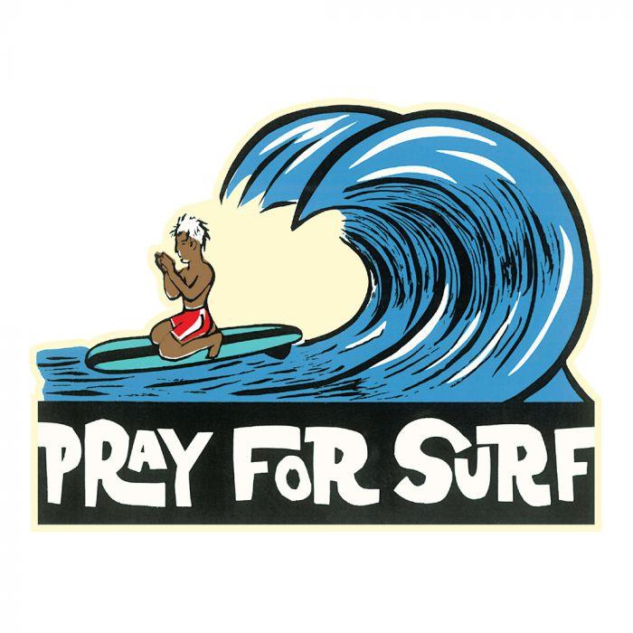 Praying Surfer Sticker