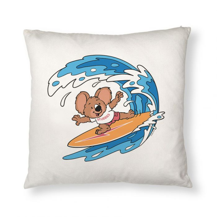 Stubbies Surf Rider Throw Pillow Cover