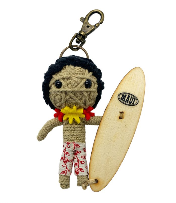 Maui Surfer String Doll Keychain