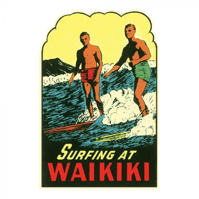 Surfing at Waikiki Sticker