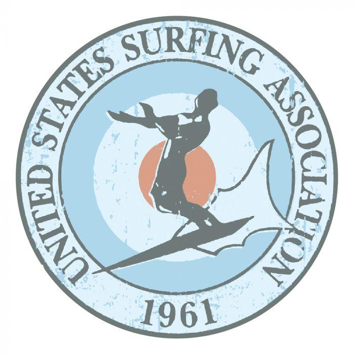 United States Surfing Association Sticker