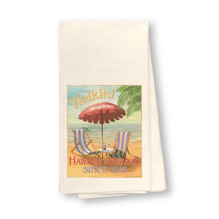 Waikiki Seaside Hotel Flour Sack Dish Towel